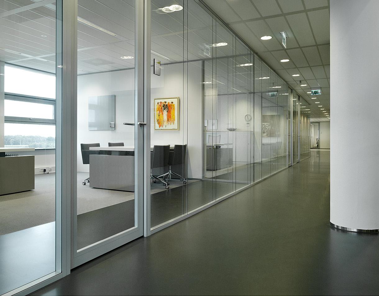 office corridor door glass. Corridor With Double Glass Partition Wall And Framed Doors Office Door
