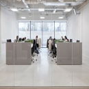 Office with glass partition wall of QbiQ