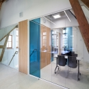 Meeting room with glass partition of QbiQ