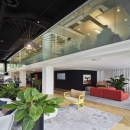Double glass office wall with high acoustic values