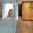 Fire resistant glass wall EW30 withoud vertical stands