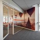 Glass partition wall and framed door at Seeligkazerne Breda, the Netherlands.