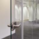 Full glass door with stainless steel lock and door handle