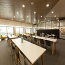 Large glass sliding doors at Nutreco in Boxmeer