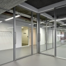 Offices with partition walls and sliding doors of QbiQ