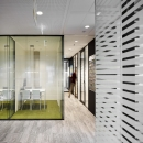 Single and double glass office walls with vector patern
