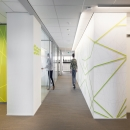 Glass partitions walls with glass doors