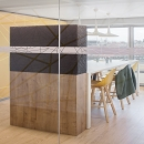 Zero-joint of the iQ-Single glass partition wall