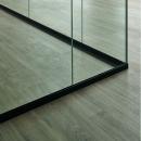 Corner detail from a QQ1 freestanding glass office