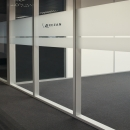 System walls double and singel glass with vertical stands