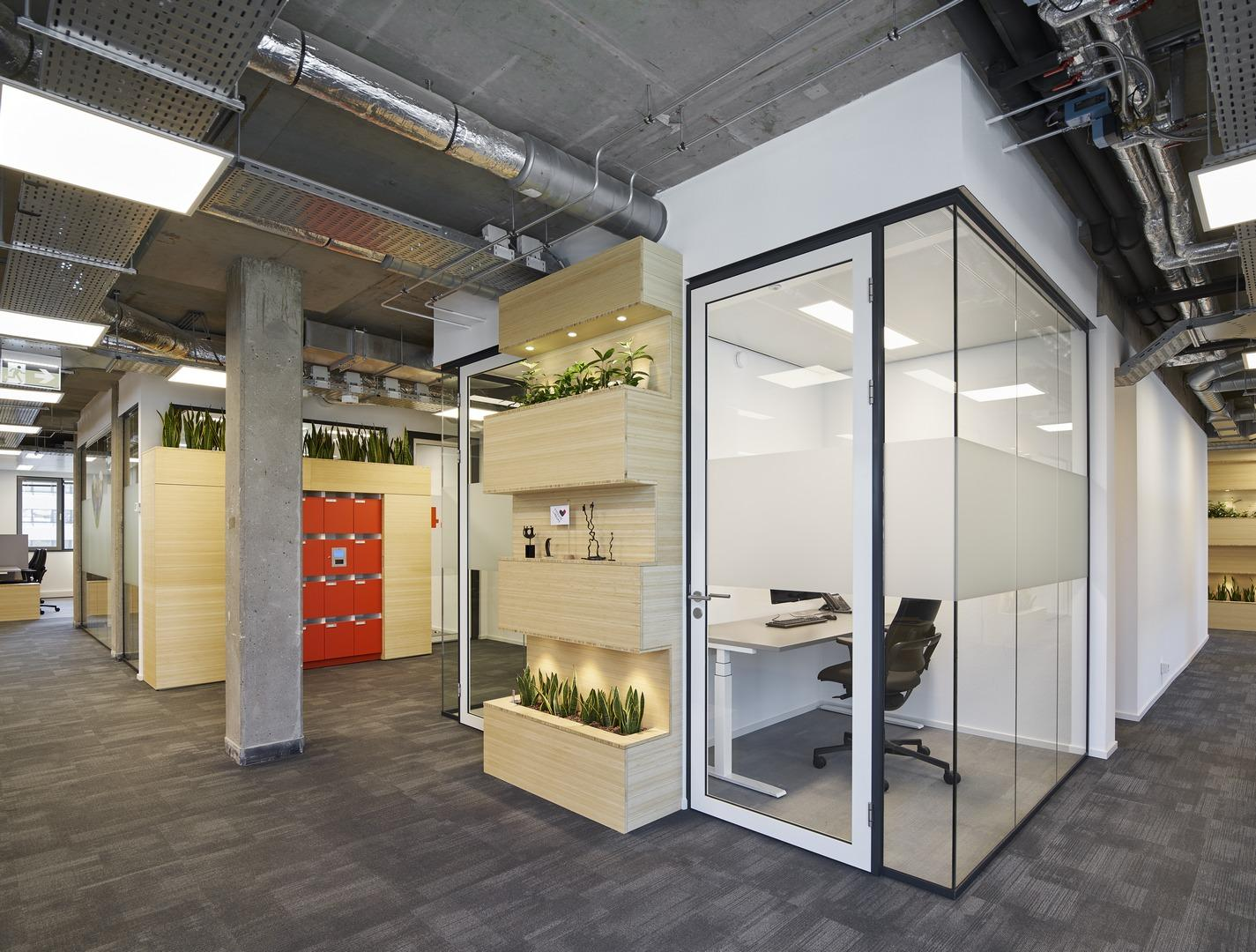 Small office unit for a concentration workplace