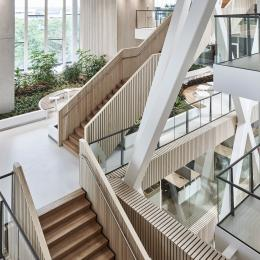 Stairs in the main hall at Canon Production Printing Venlo