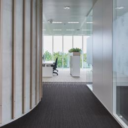 Glass partitions at Canon Production Printing Venlo.