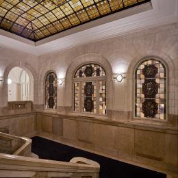 Classic hallway at B30 building The Hague