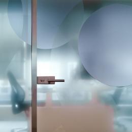 Full glass door made of tamperad glass