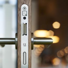 QbiQ lock in a HPL door