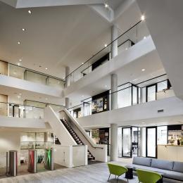 Qbiq glass wall on every floor
