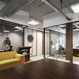IQ-Single glass partitions wall to create offices