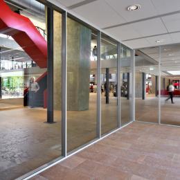 QbiQ IQ-PRO Doubel glass partition wall Atlas TU/e in Eindhoven