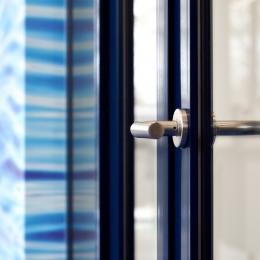 Detail aluminum KDEC frames door