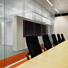 Boardroom with double glass walls
