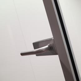 Tampered glass door with stainless steel lock in a DK42 door frame at CentreCourt The Hague.