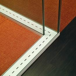 double glass partition wall 90 degrees corner