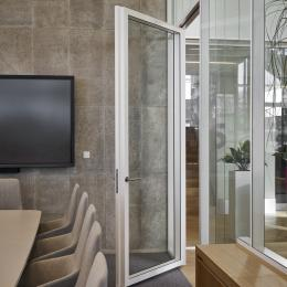 KDD80-100 wall thick door wit double glass