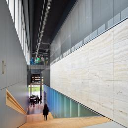 Qbiq glass walls below and above