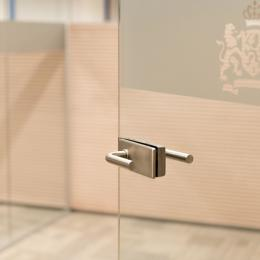 Tampered glass door with stainless steel lock