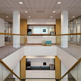 Cental staircase at Ernst & Young Venlo