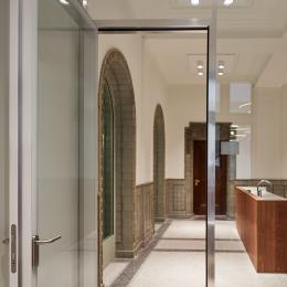 KDG100 flush door in alu system wall