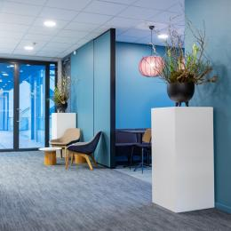 Small partition for extra privacy at Novo Nordisk in Alphen aan den Rijn