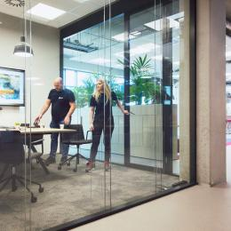 IQ Structural double glass partition at DPD Oirschot