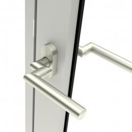 Door handle Amsterdam with cranked shaft