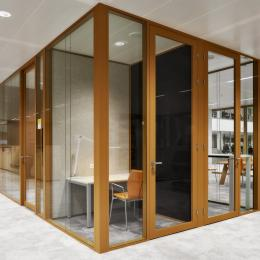 Silence rooms with partition wall and door