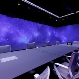 360 degree projection in board room at The Flow Houthavens Amsterdam
