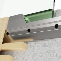 QbiQ iQ VIEW Y-Line balustrade glass for mounting on side