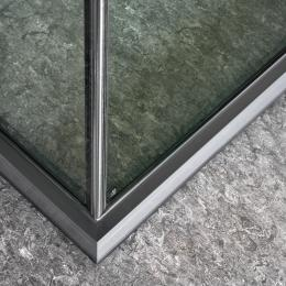 Corner detail of a IQ Protect Fire EW30 fire resistant glass wall