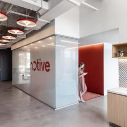 Space dividing wall at Worldwide in New York