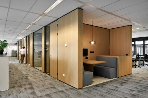 Meeting area build with melamine partitions