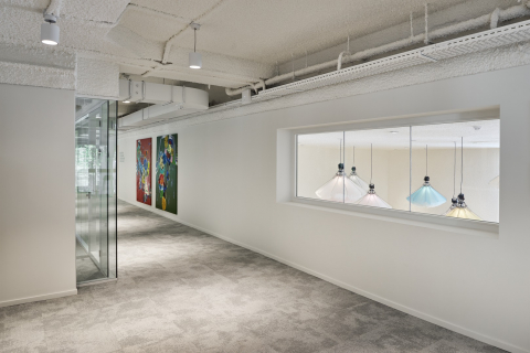 Corridor and office dividing partitions wall