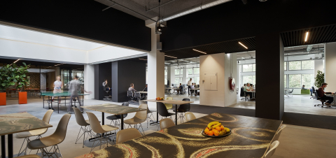 Work and recreation area l at Inbo Architects in Amsterdam