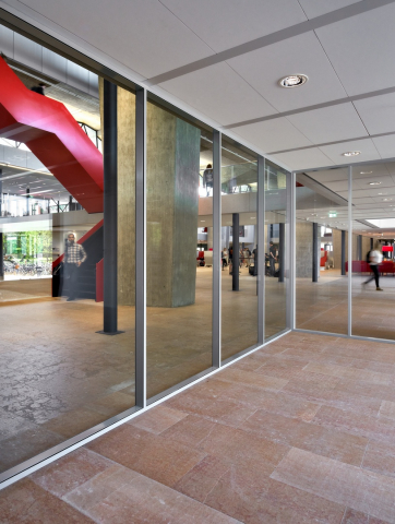 QbiQ IQ-PRO Doubel glass partition wall Atlas TU/e in Eindhoven