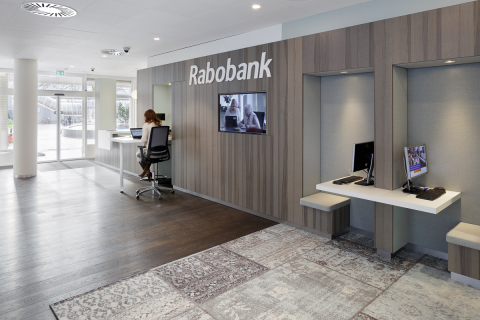 "Client ""do-it-self center"" in the main hall of Rabobank Capelle a/d IJssel"