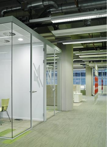 Free standing office units for concentration workspace, conversation or printer room