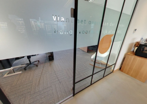 Single glass old fashion industrial look demountable wall