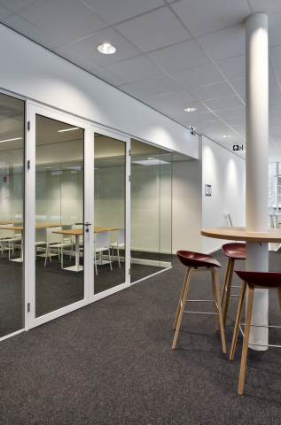 Classroom first floor, walls with double doors at Seeligkazerne Breda, the Netherlands