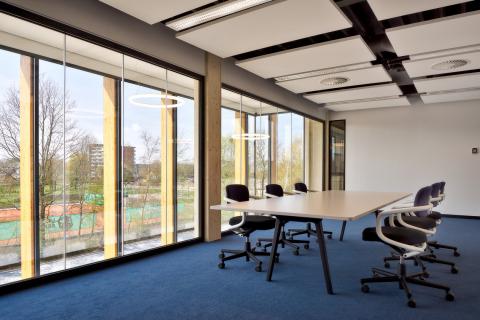 Large conversation room at Groenendijk bedrijfskleding in Woerden, the Netherlands