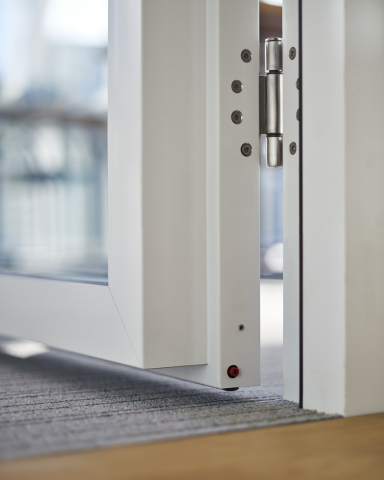 KDD80-100 wall thick door with double glass and drop seal